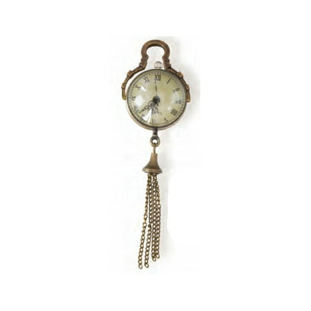 Jewlery Pendant: Antique Gold Glass Globe Watch with Tassel, 75mm