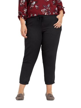 846e08f7718 Product Image Plus Size Stripe Pull On Ankle Pant. maurices
