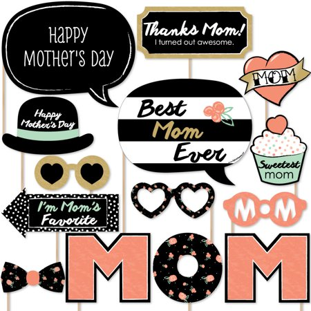 Diy Props (Best Mom Ever - Mother's Day Photo Booth Props Kit - 20)