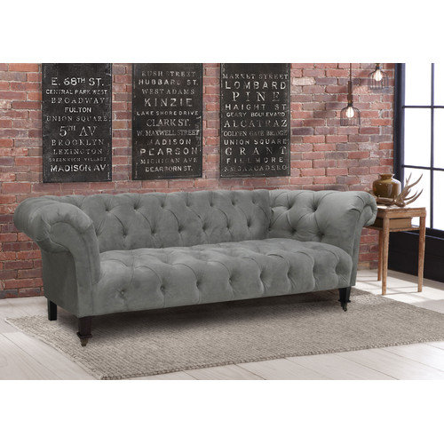 Skyline Furniture Tufted Chesterfield Velvet Sofa