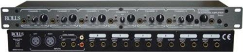 Rolls RA62C 6 Ch Pro Headphone Amp 1u by Rolls