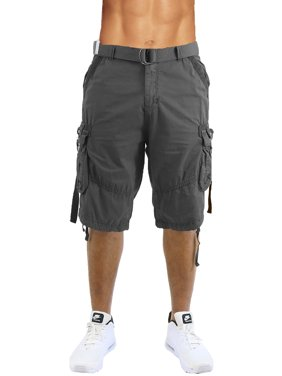 3fccd3fa91 Product Image Men's Distressed Vintage Belted Cargo Utility Shorts (Size ...