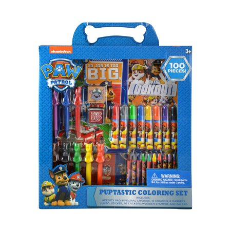 Paw Patrol Nickelodeon Paw Patrol Pupastic Coloring Set (100pc Set) Arts and Crafts](Coloring Set)