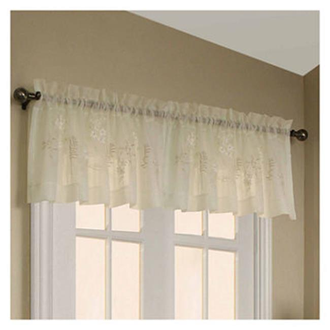 "Habitat Hydrangea Window Valance - 54x16"" - CREAM"