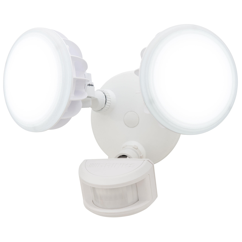 Brinks Integrated Led 240 Degree 2 Head Motion Sensor Security 240d Light Wiring Diagram White