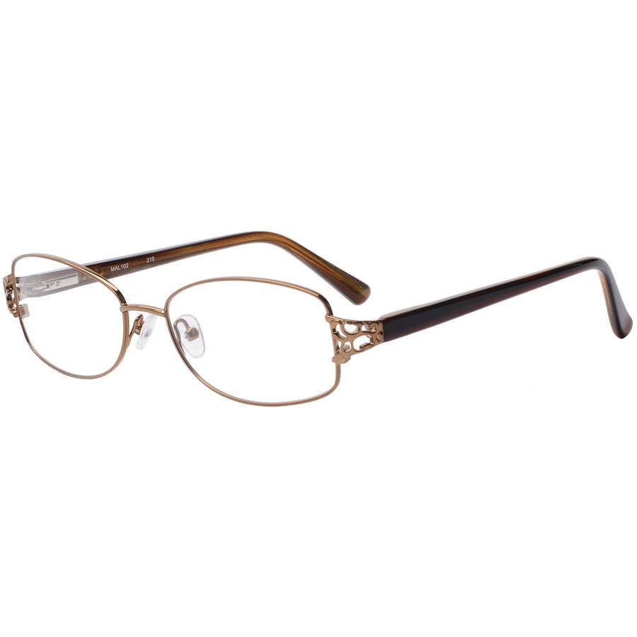 madison avenue womens prescription glasses, mal102 brown