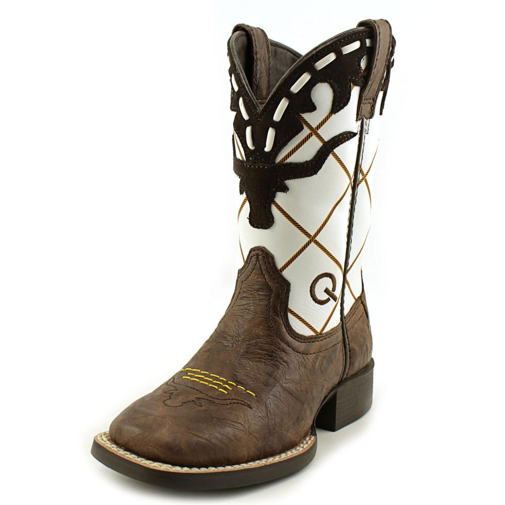 Ariat Dakota Dogger Youth Square Toe Leather Brown Western Boot by Ariat