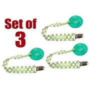 Set of 3 PaciGrip - Universal Pacifier Holder with Clip, that is compatible with all types of pacifiers
