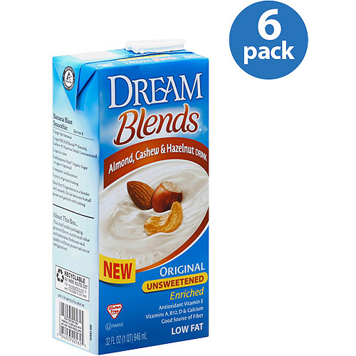 Dream Blends Original Unsweetened Almond, Cashew & Hazelnut Drink, 32 fl oz, (Pack of 6)
