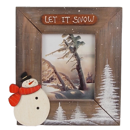 Craft Outlet Medium ''Let it Snow'' Cabin Photo Picture F...