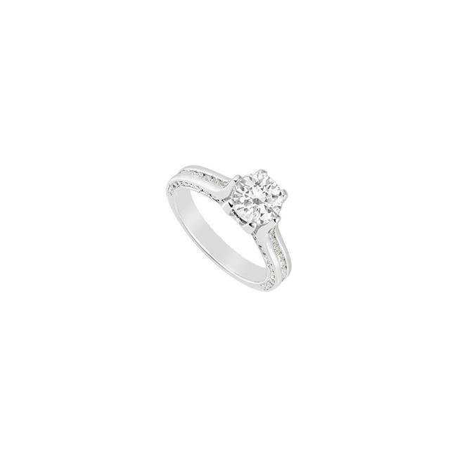 14K White Gold Semi Mount Engagement Ring with 1.00 Carat Diamonds, Size 4 - image 1 of 1