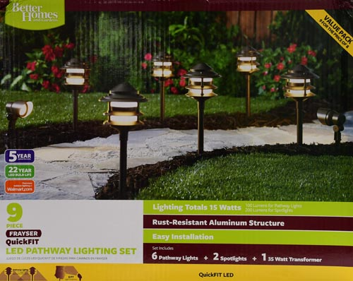 Better Homes And Gardens Fayser 8 Piece Outdoor Quickfit LED Pathway  Lighting Set Image 3 Of