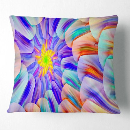 DESIGN ART Designart 'Multi Colored Stain Glass with Spirals' Floral Throw Pillow (Multi Colored Stained Glass)