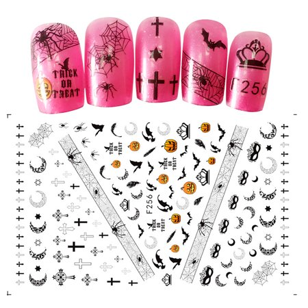 Lv. life Halloween Transfer Nail Art Sticker Polish Decal Manicure Decoration Accessory, Halloween Transfer Sticker, Halloween Nail Sticker - Cute Halloween Manicure