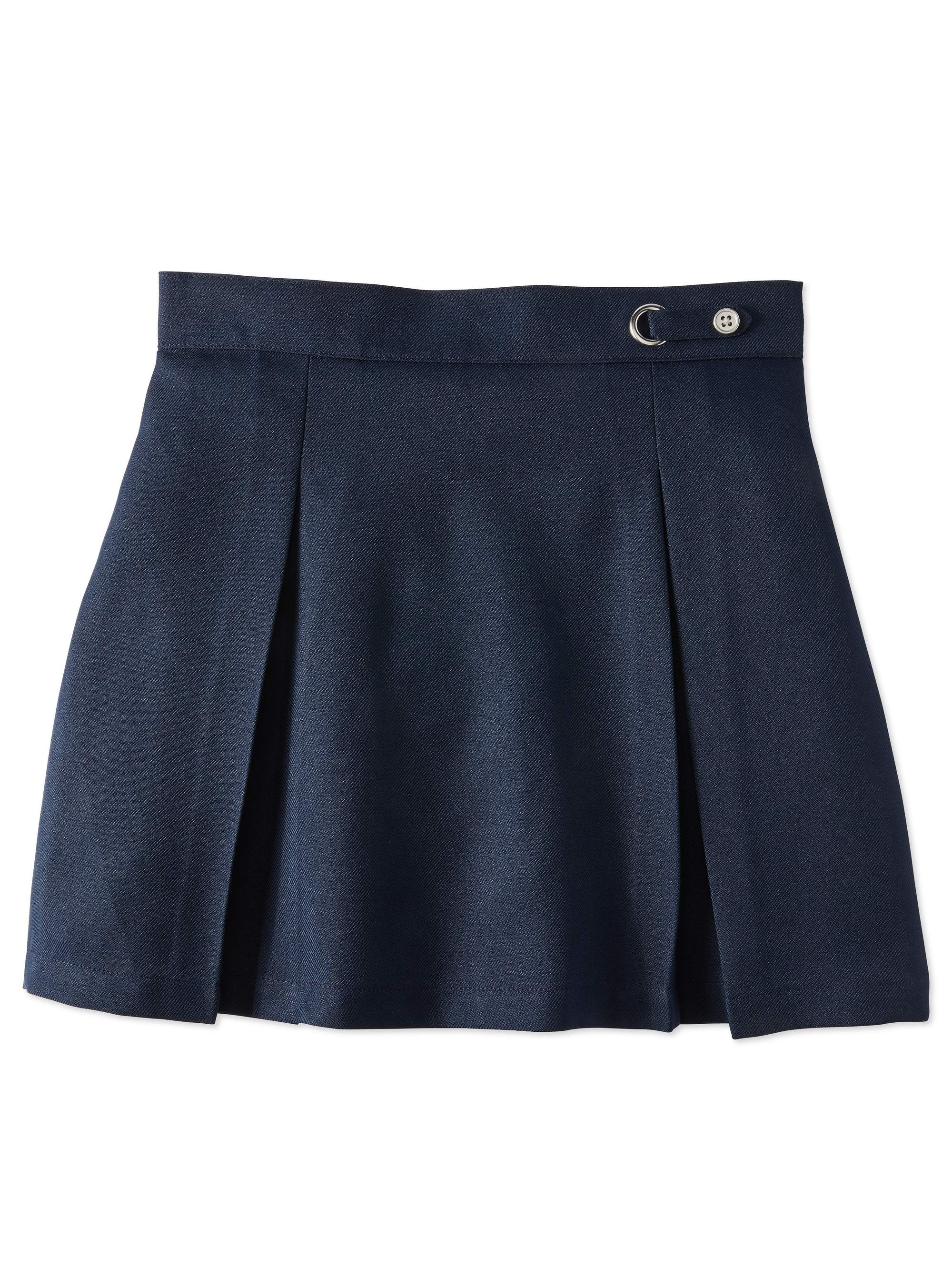 Girls Plus School Uniform Button Side Tab Scooter