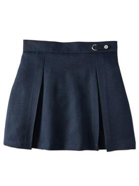 Wonder Nation Girls Plus School Uniform Button Side Tab Scooter (Plus)