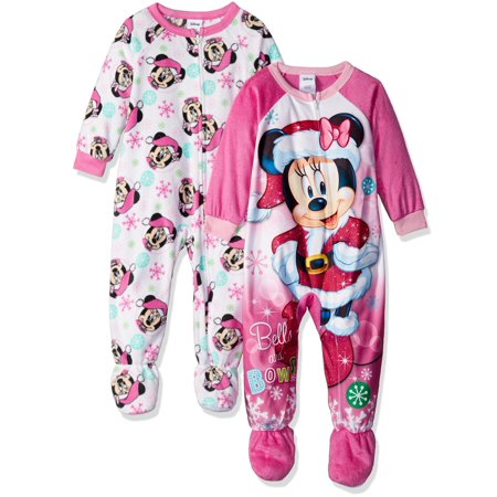 Disney Girls' Minnie Mouse 2-Pack Blanket Sleeper](Next Womens Onesie)
