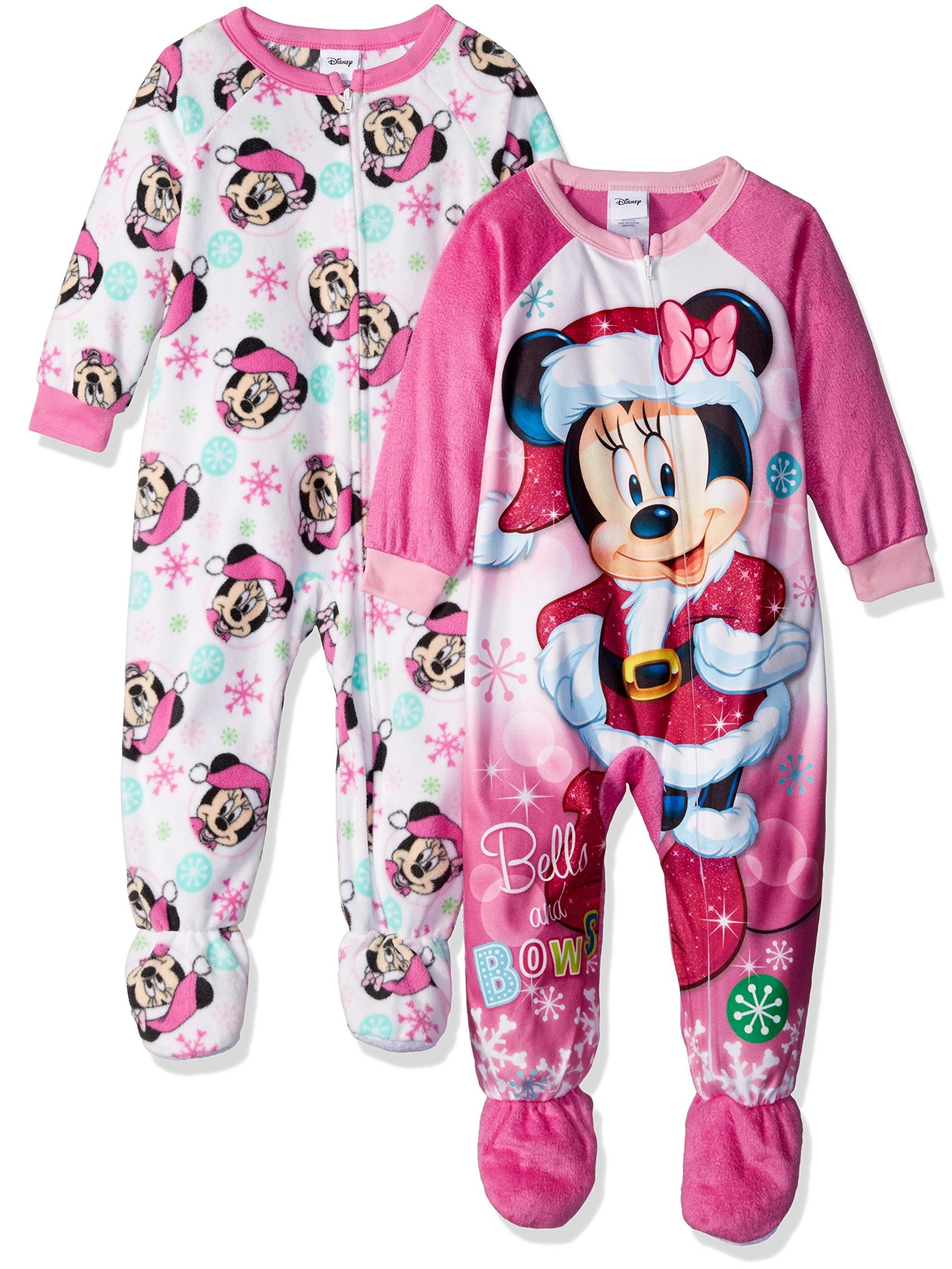 Disney Girls' Minnie Mouse 2-Pack Blanket Sleeper