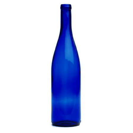 750 Ml Cobalt Blue Wine Bottles, Cork Finish - Halloween Wine Bottles