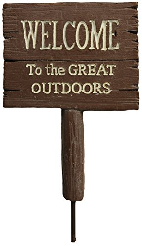 Welcome To The Great Outdoors Sign