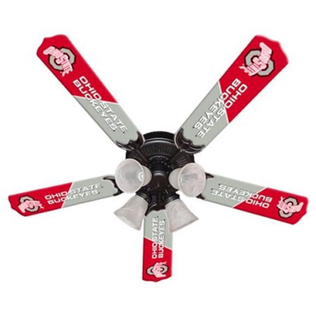 Ceiling Fan Designers 7995-OSU New NCAA OHIO STATE BUCKEYES 52 in. Ceiling Fan