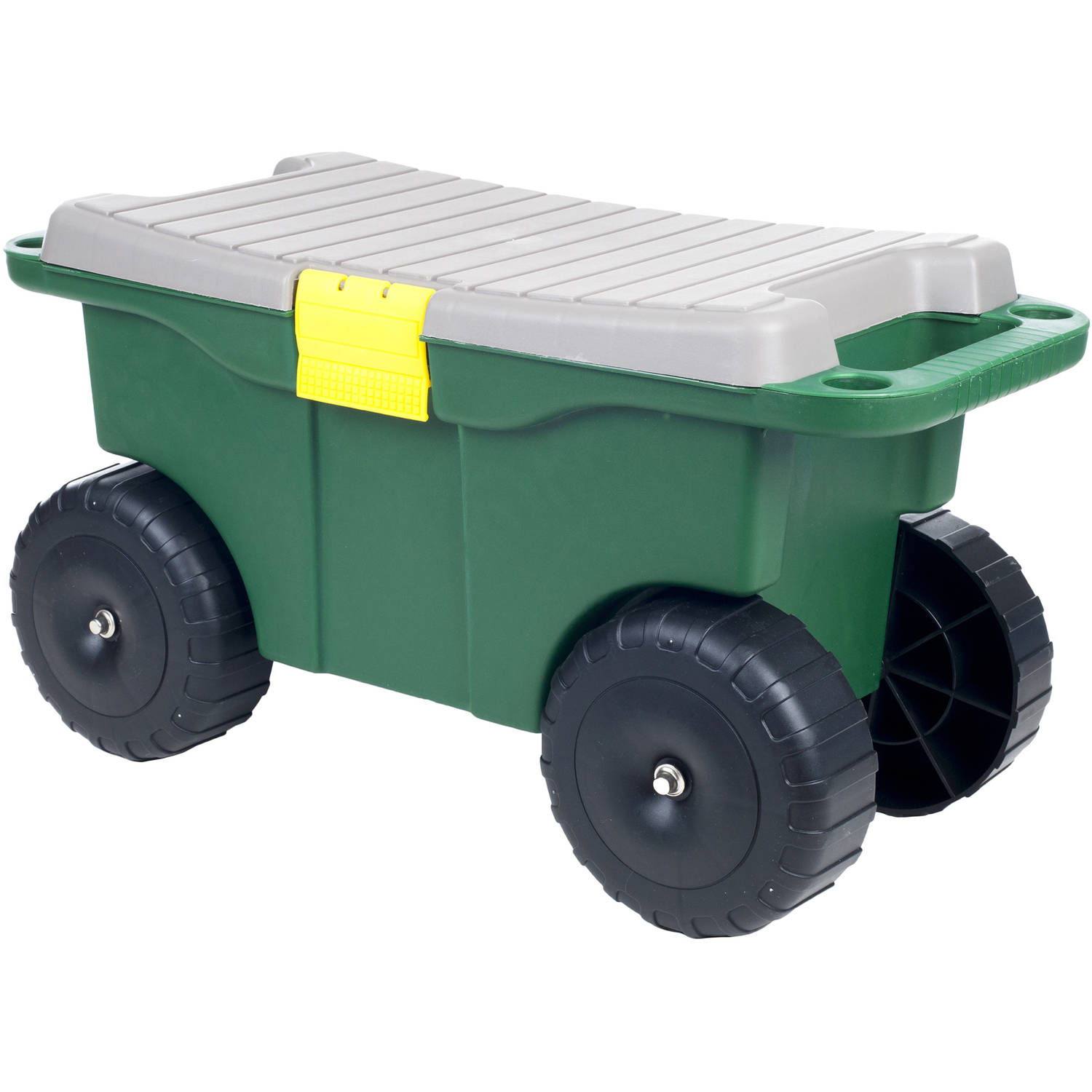 "Image of Pure Garden 20"" Plastic Garden Storage Cart and Scooter"
