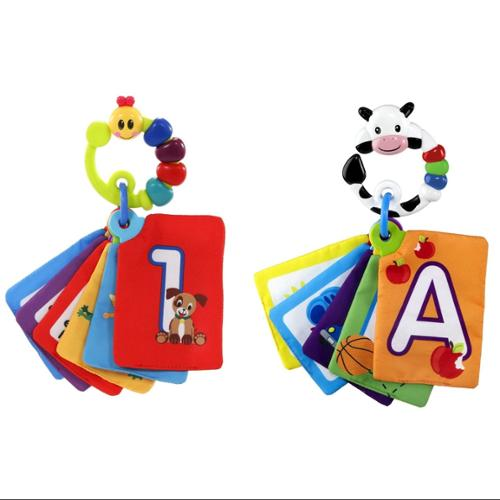 Baby Einstein Shapes & Numbers Discovery Cards - Caterpillar & Cow