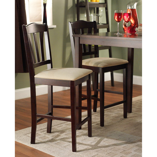 "Metropolitan Stool, 24"", Set of 2, Espresso"