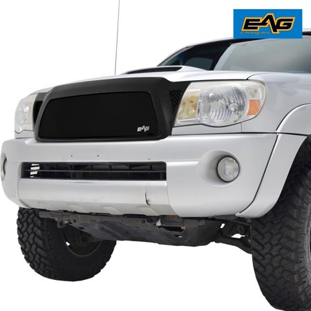 EAG EAG Replacement Grille Black Stainless Steel Wire Mesh with ABS Shell for 05-11 Toyota -