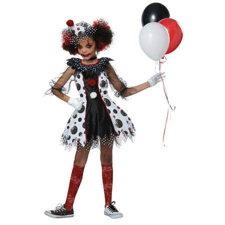 Creep Clown Girl's Costume](Harlequin Clown Costume Plus Size)