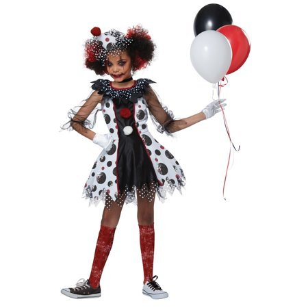 Creep Clown Girl's Costume - Clown Costume Girls