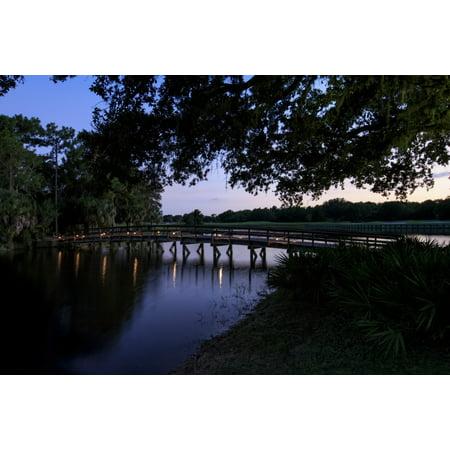 Sunset over golf course in Sarasota Sarasota County Florida USA Canvas Art - Panoramic Images (27 x 9)