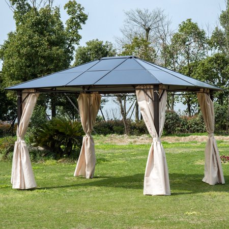 Outsunny 10 x 12 ft. Steel Hardtop Party Gazebo with Removable