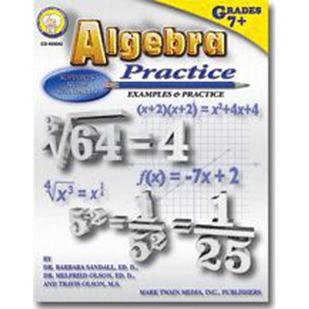Algebra Practice Book, Weight - 0.68 By Frank Schaffer PublicationsCarson Dellosa Publications Frank Schaffer Reading