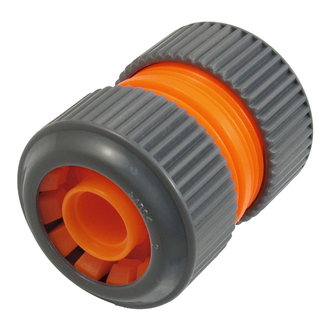 Unique Bargains Gray Orange Quick Connector Disconnect Coupler for 16mm x 24mm Water Hose