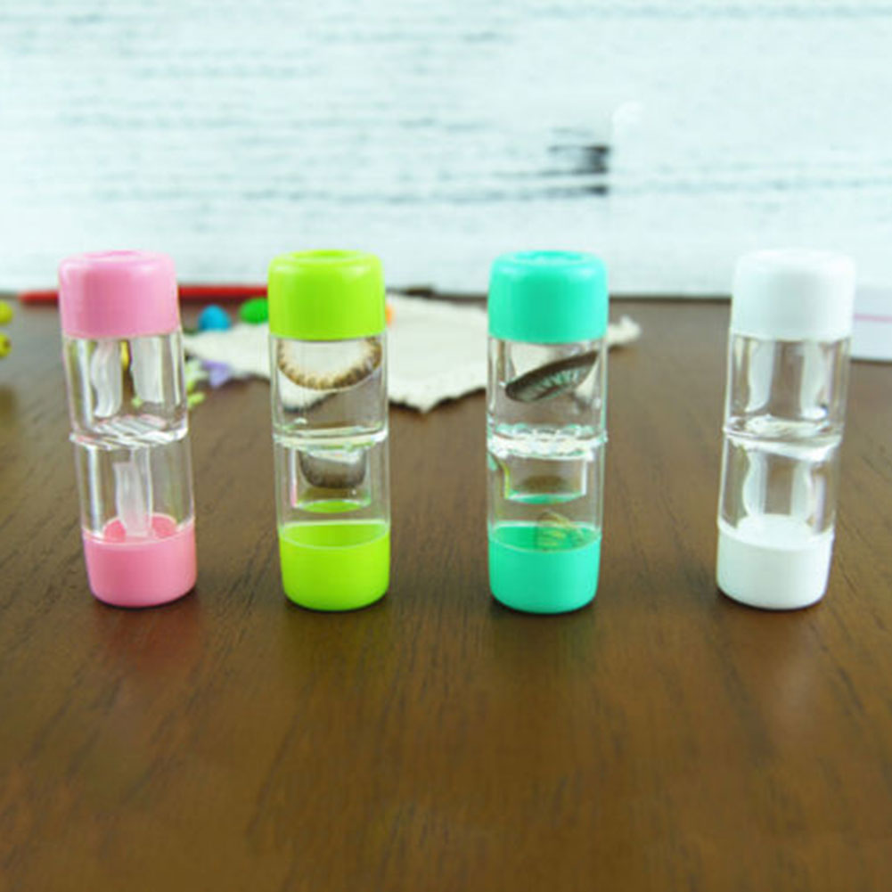 Micelec Double-head Portable Travel Contact Lens Case Container Holder Storage Box