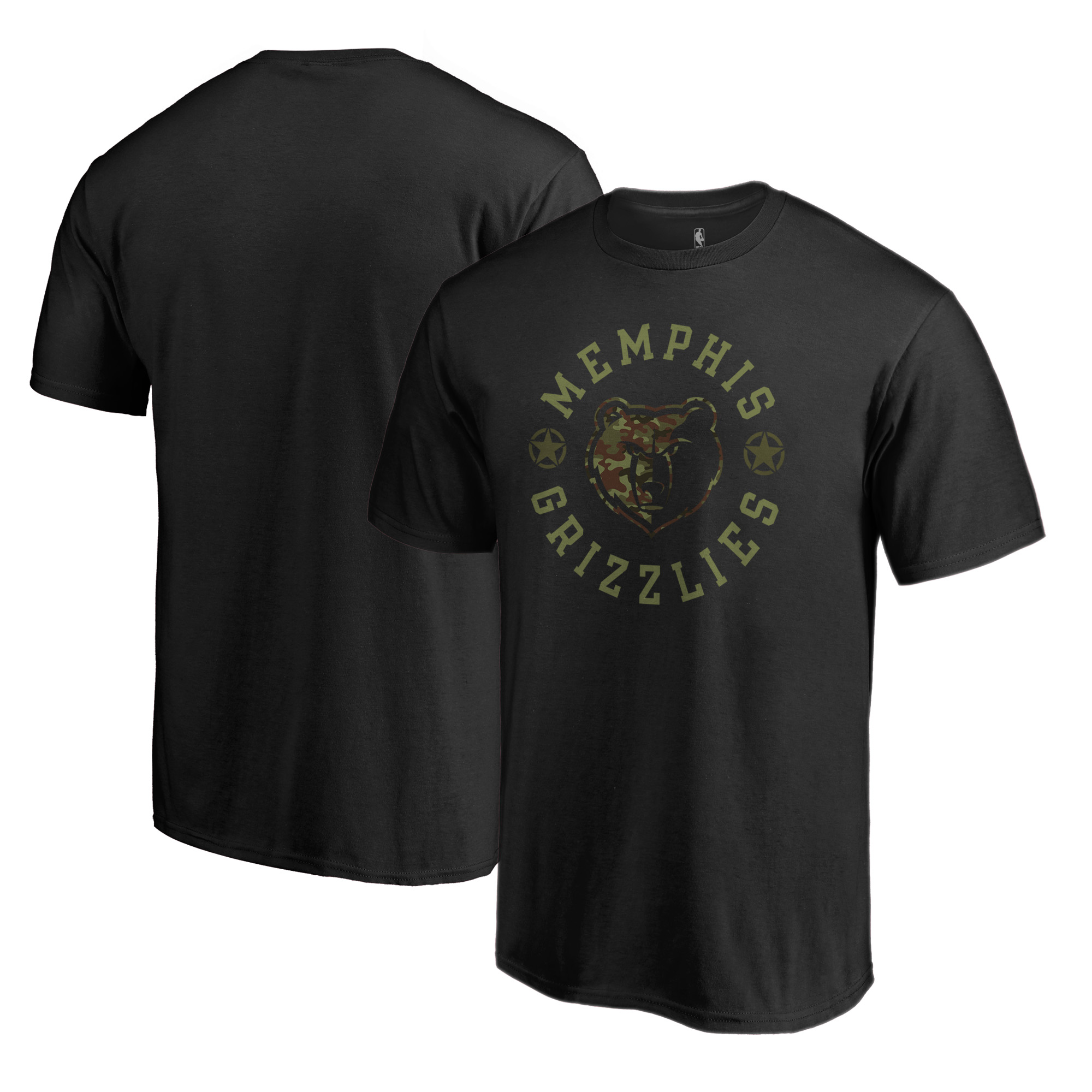 Memphis Grizzlies Fanatics Branded Liberty Camo Big & Tall T-Shirt - Black