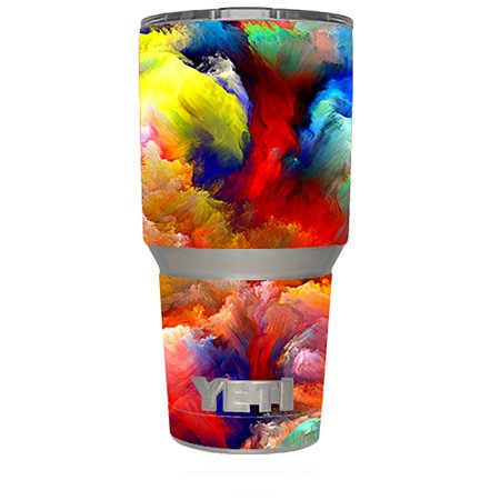 Skin Decal Vinyl Wrap (6-piece kit) for Yeti 30 oz Rambler Tumbler Cup / Pimped Out Storm guy