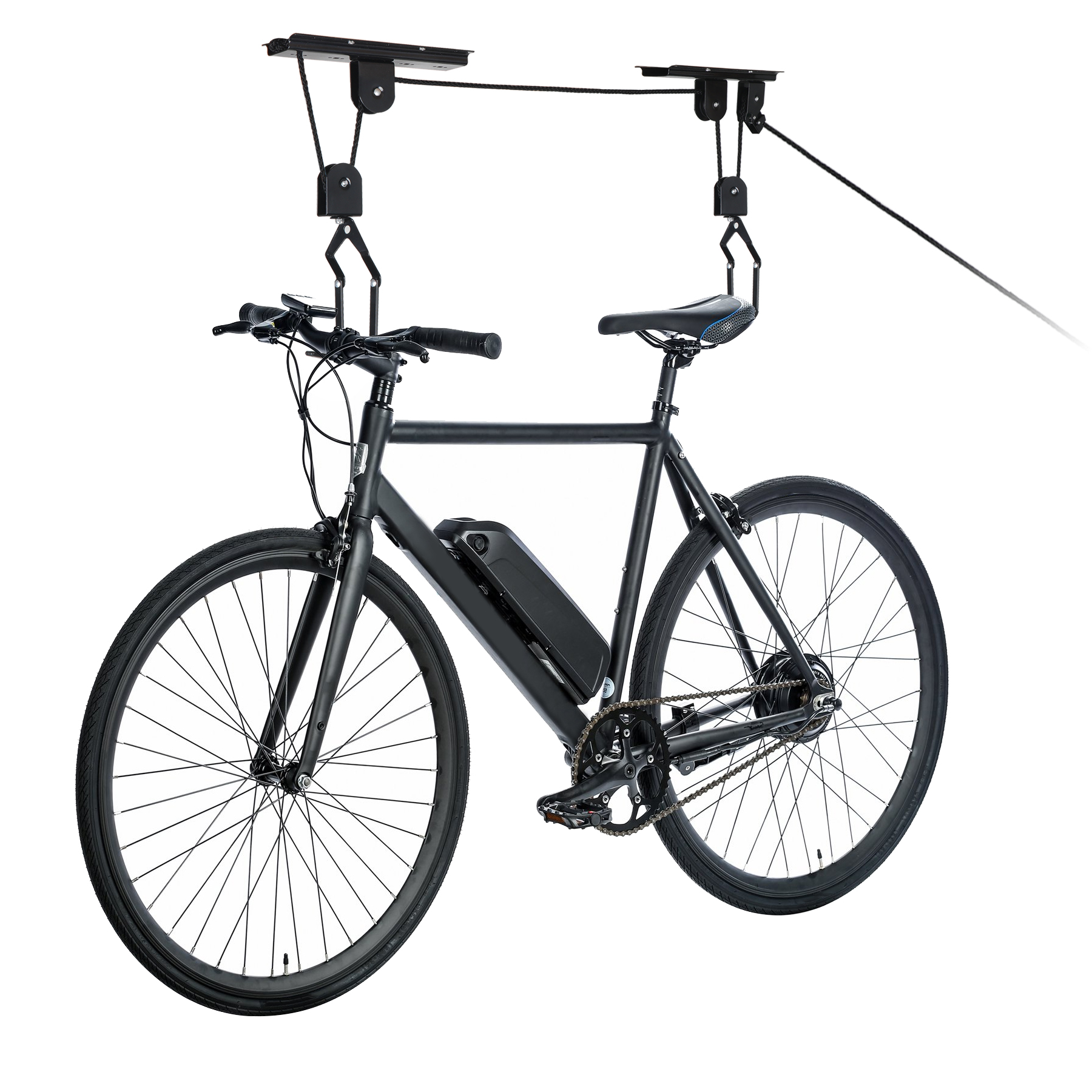 Ceiling Bike Rack >> Zeny Heavy Duty Bike Lift Hoist For Garage Storage Ceiling Mounted