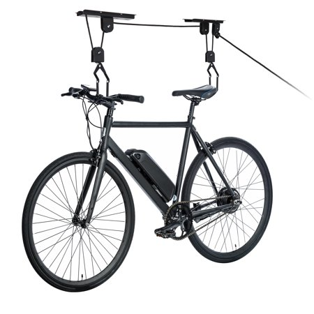 Zeny Heavy Duty Bike Lift Hoist For Garage Storage Ceiling Mounted Bicycle Hoist Hanger Pulley Rack Ceiling Bike Rack