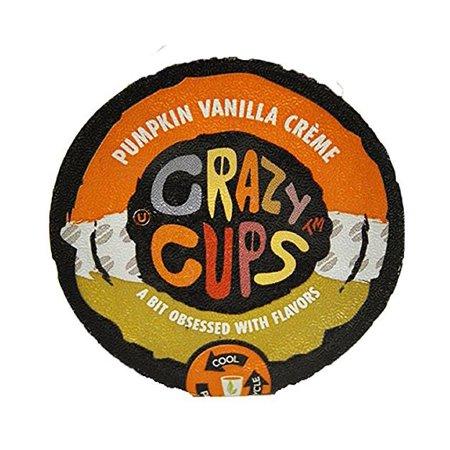 Crazy Cups Pumpkin Vanilla Creme Flavored Coffee Single Serve Cups, 22 count