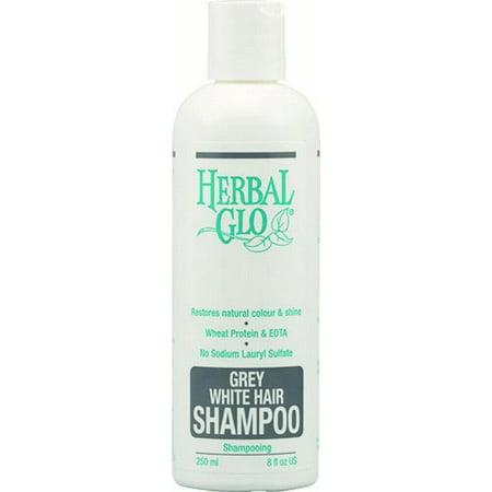 Herbal Glo Grey & White Hair Shampoo, 8 Fl Oz