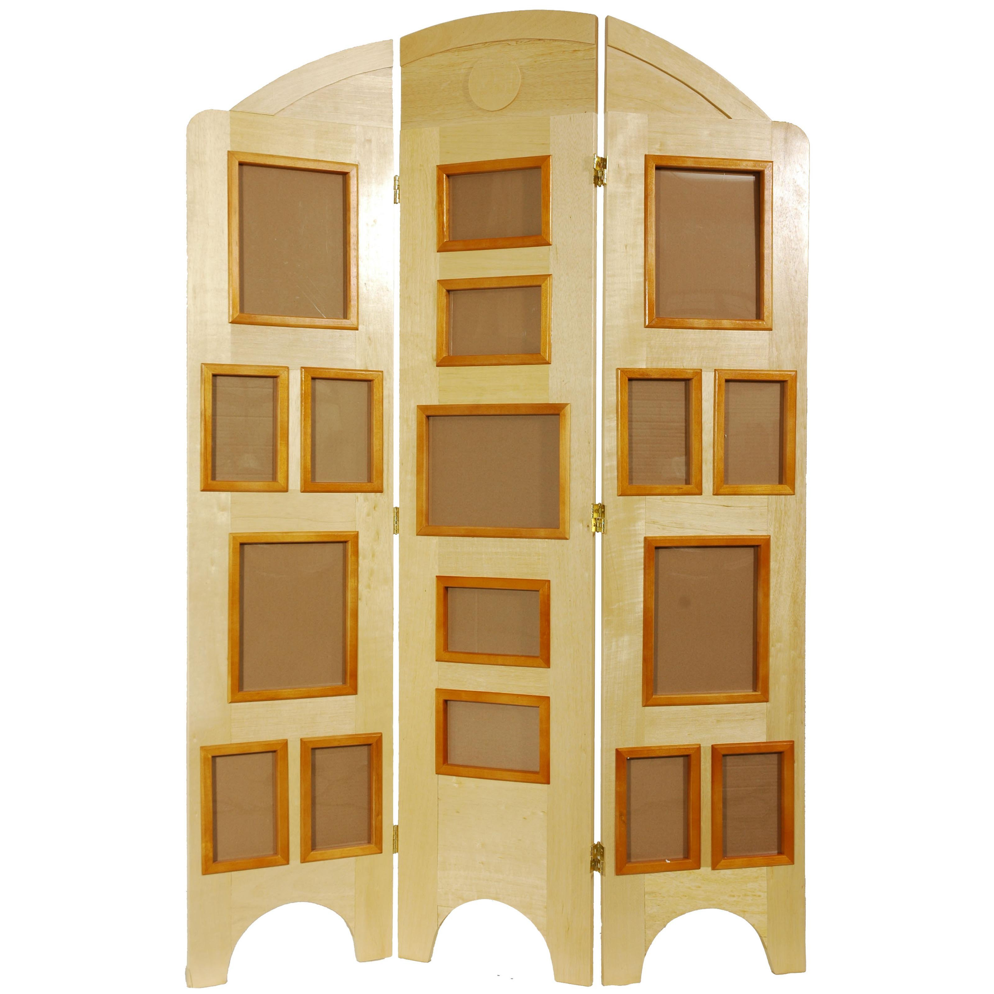 Oriental Furniture Arc Top Photo Screen Room Divider