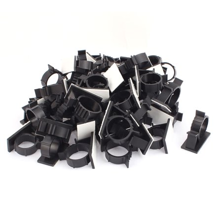 50Pcs 21mmx42mm White Adhesive Backed Nylon Wire Adjustable Cable Clips Clamps - image 2 de 2