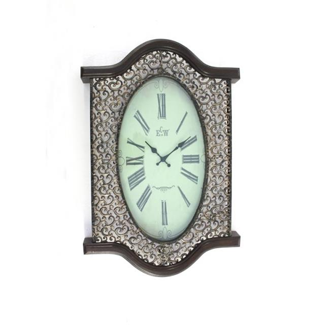 Teton Home WD-031 Metal & Wood Wall Clock - Pack of 2