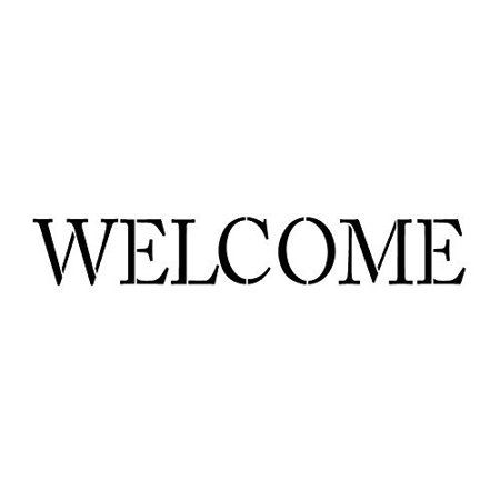 Welcome Stencil by StudioR12 | Skinny Traditional Word Art - Medium 16.5 x 4.5-inch Reusable Mylar Template | Painting, Chalk, Mixed Media | Use for Crafting, DIY Home Decor - STCL1177_2
