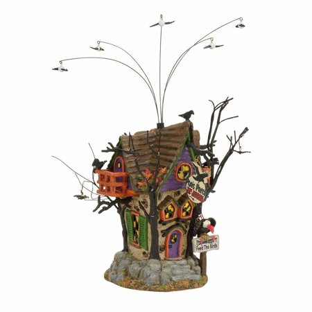 Dept 56 Halloween Village 4056704 Poe's Perch Aviary 2017