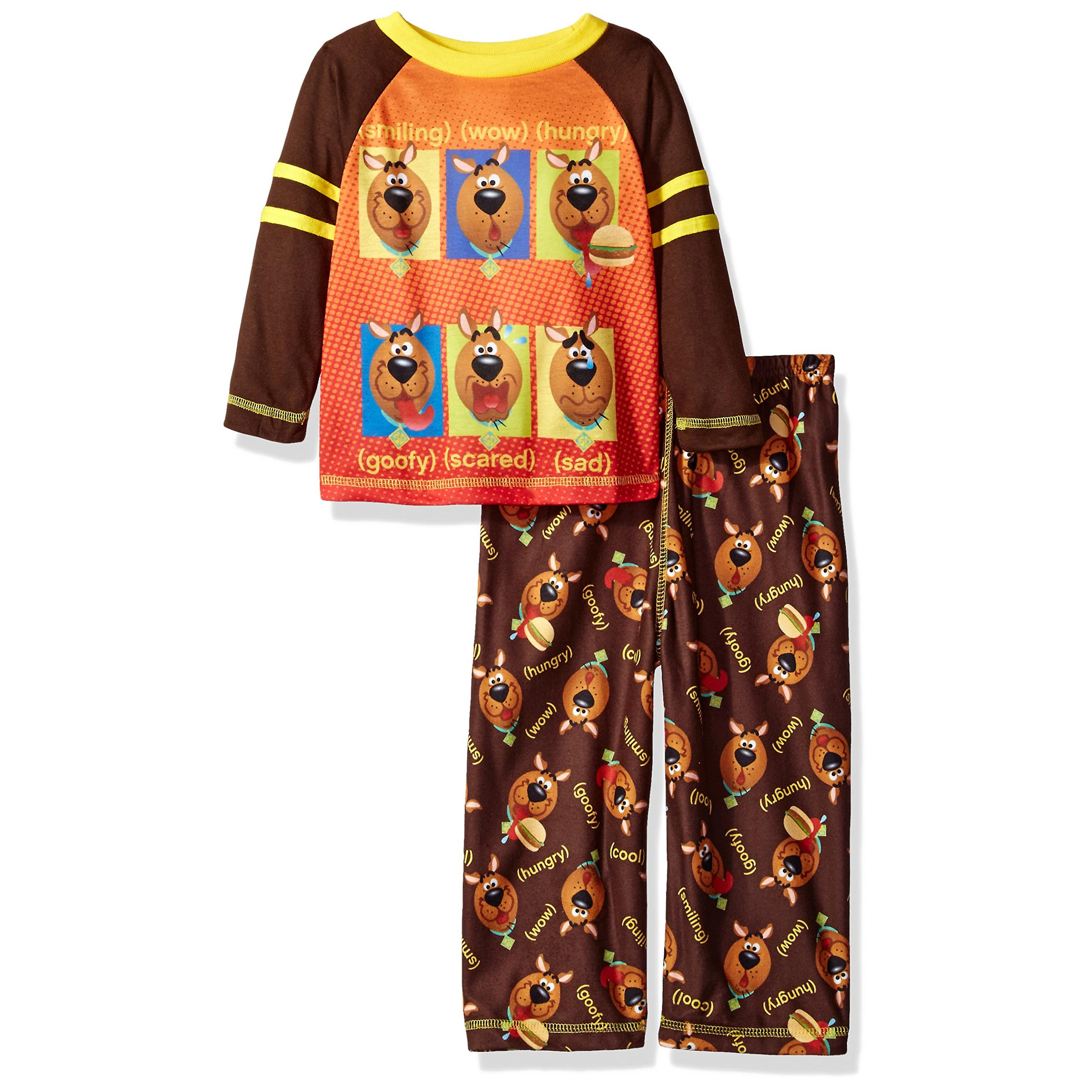 SGI Apparel Little Boys' Scooby Doo 2-Pc Pajama Set, Long Sleeve Top with Pant
