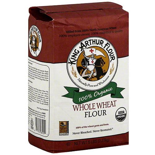 King Arthur Flour Organic Whole Wheat Flour, 5 lb (Pack of 6)