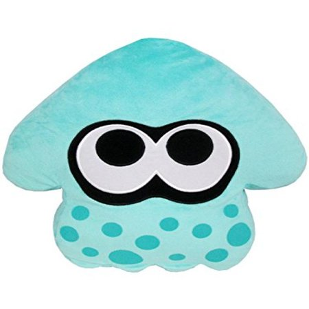 Sanei Splatoon Squid Stuffed Cushion Plush  14    Turquoise